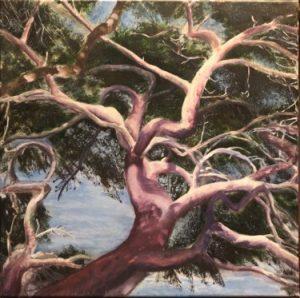 L'arbre dansant peint en acrylique