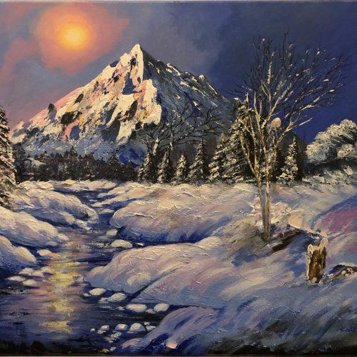 A snowe ewening, tableau de l'artiste katarzyna Boduch