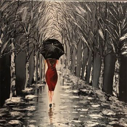 Black Umbrella, tableau taille redimensionné