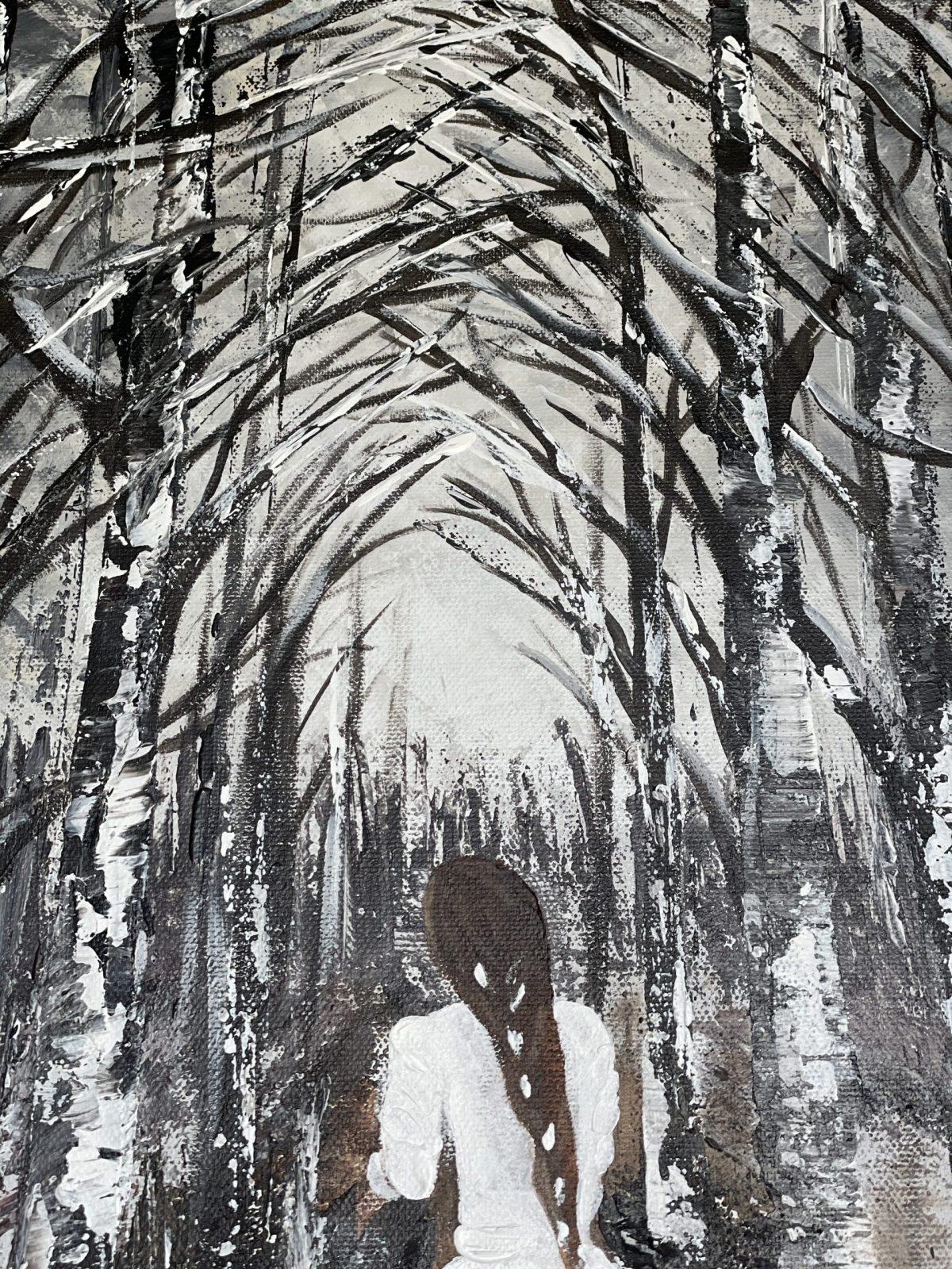 La mariée dans la forêt enneigée - Kate_Art Galerie - arbres
