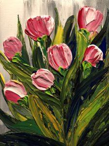 Tulipes fait au couteau par Kate_Art Galerie