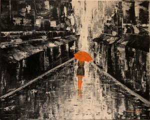 In the rain réalisé par Katarzyna Boduch, une peintre polonaise