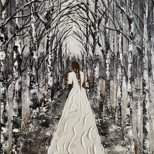 """""""La mariée dans la forêt enneigée"""" Kate_Art Galerie"""