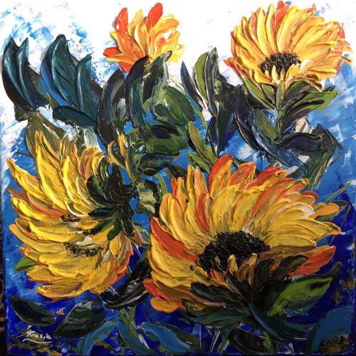Tournesols réalisé par Katarzyna Boduch, peintre polonaise