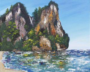 Roch Island réalisé au couteau par Katarzyna Boduch