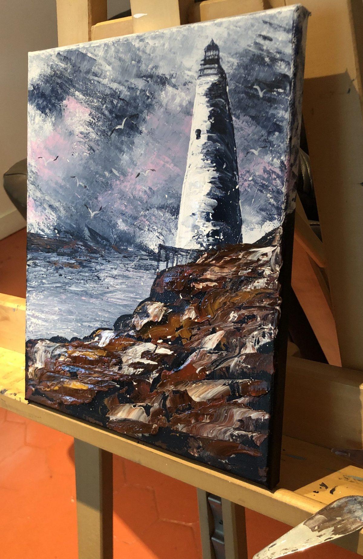 Lighthouse vue sur la chevalet - réalisation Kate_Art Galerie