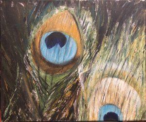 Paon dans l'oeil, réalisation Béa