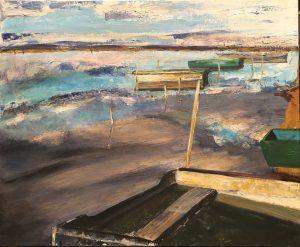 Barques à la mer voilée
