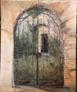 Portail Provençal, acrylique sur toile, fait par Béa
