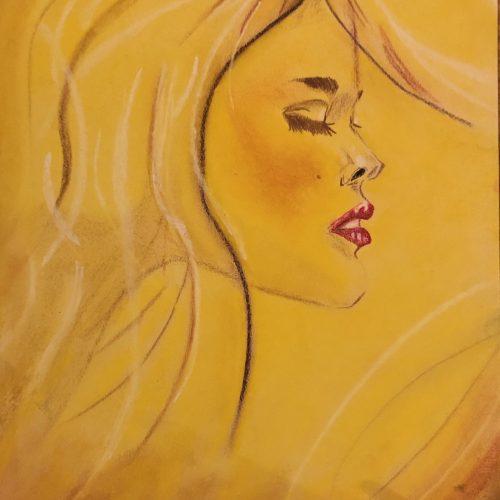 Mystérieuse est un dessin fait aux pastels par Kate_Art Galerie d'auteur Katarzyna Boduch