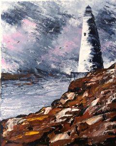 Toile de la page galerie D'œuvre - Lighthouse une peinture acrylique du phare fait par kate_Art Galerie