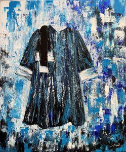La robe d'avocat, réalisé en acrylique au couteau par Katarzyna Boduch