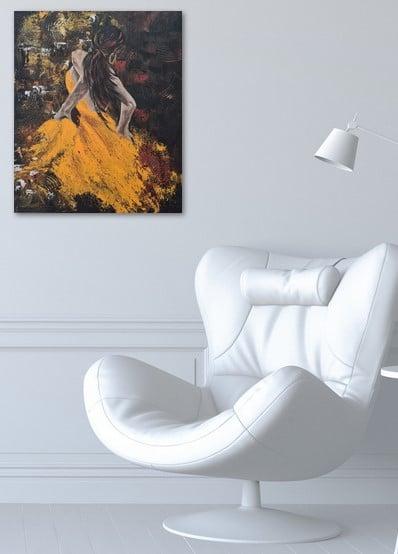 Danseuse du Tango, photo du tableau exposé au bureau