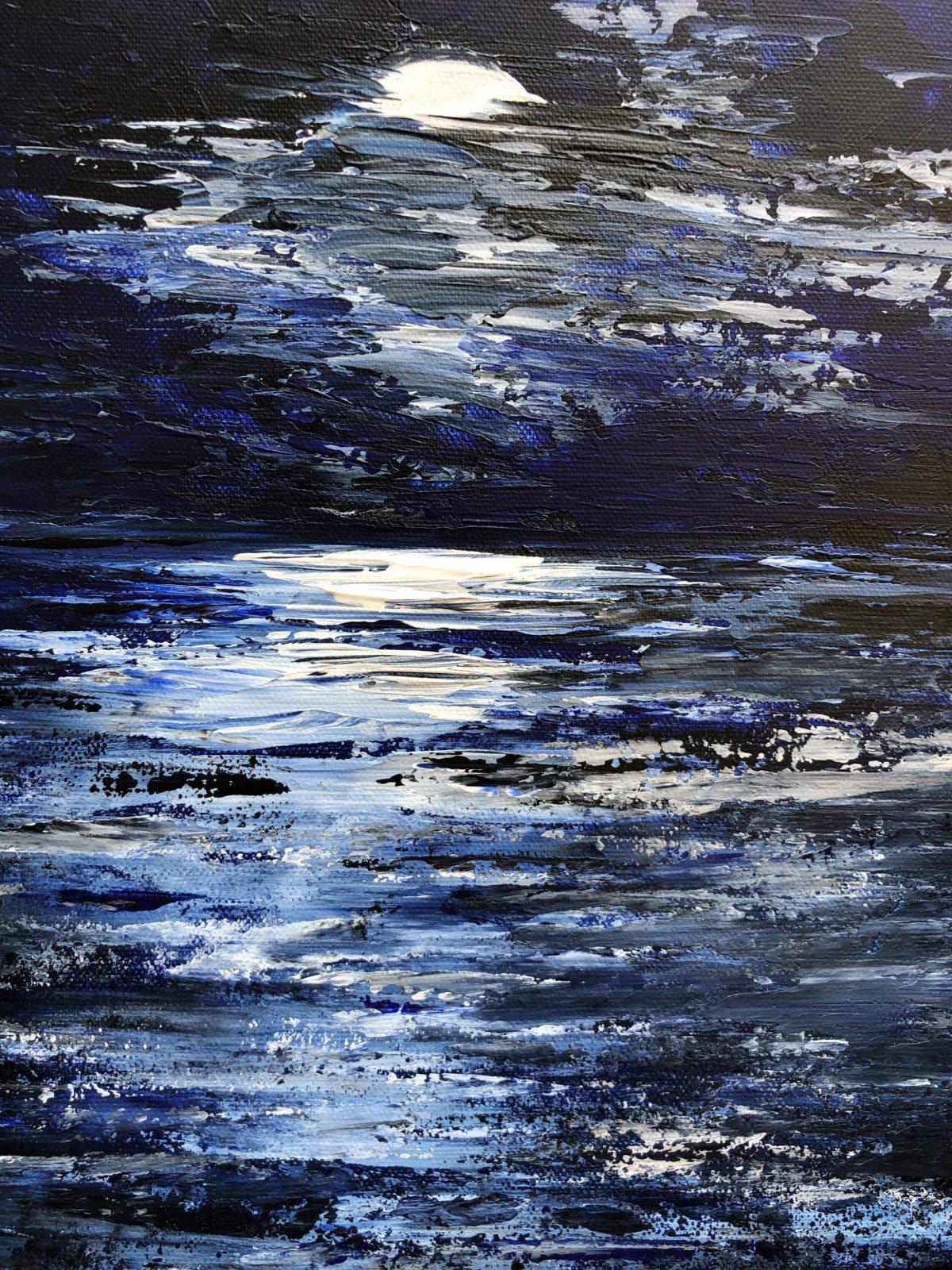 La nuit sur l'Océan, gros plan sur le coucher de soleil
