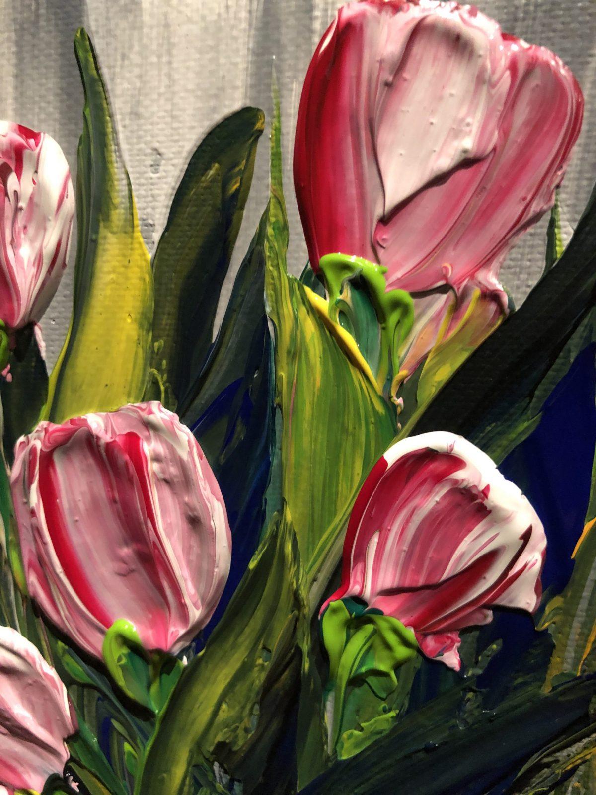 Tulipes, gros plan sur les fleures