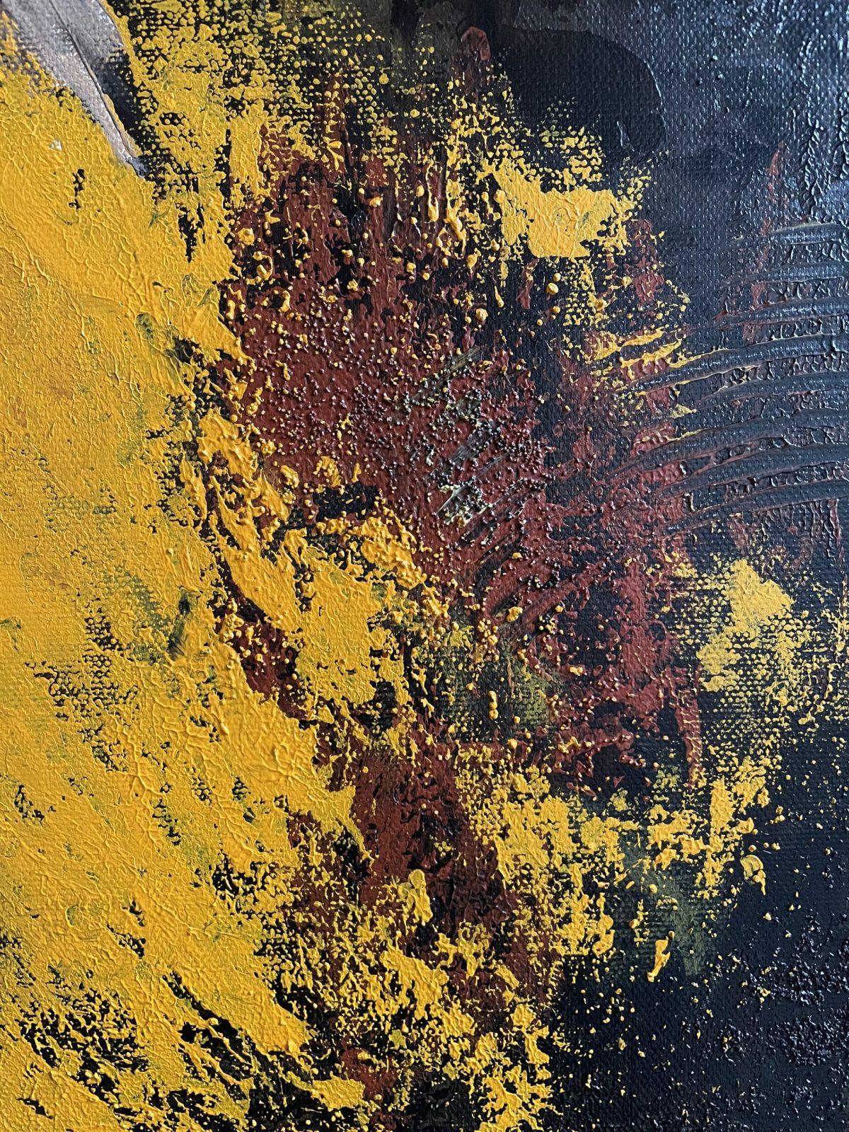 La danseuse du tango, gros plan sur la texture sableuse