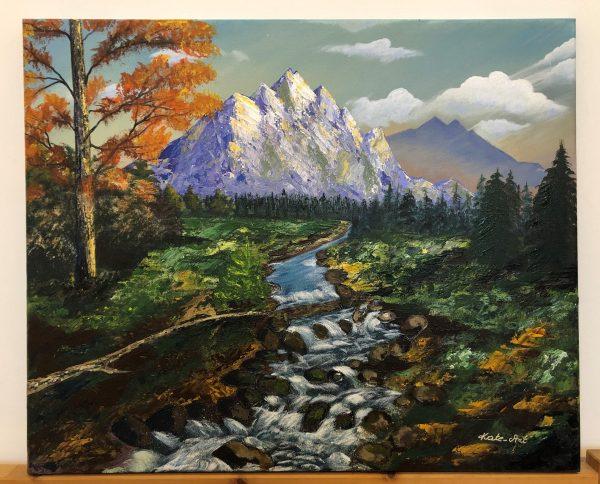 """""""Amazing Landscape with waterfall"""" de Kate_Art , Artiste Katarzyna Boduch"""