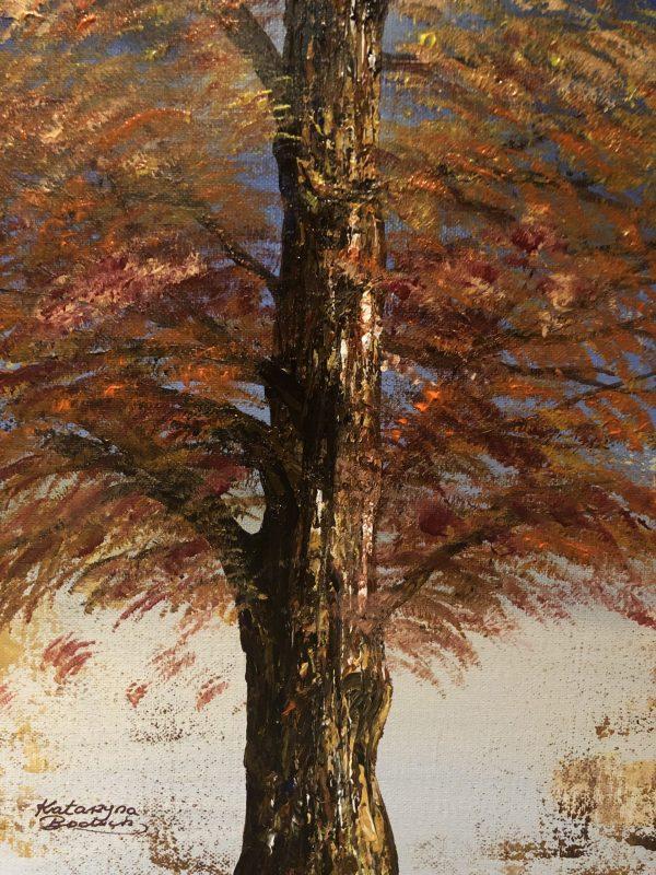 The golden tree of autumn signé Katarzyna Boduch