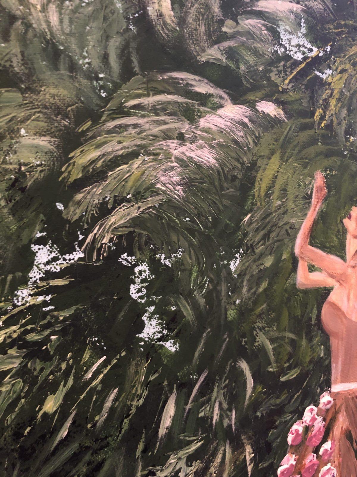 """Une femme fleuri au jardin tropical"" femme"