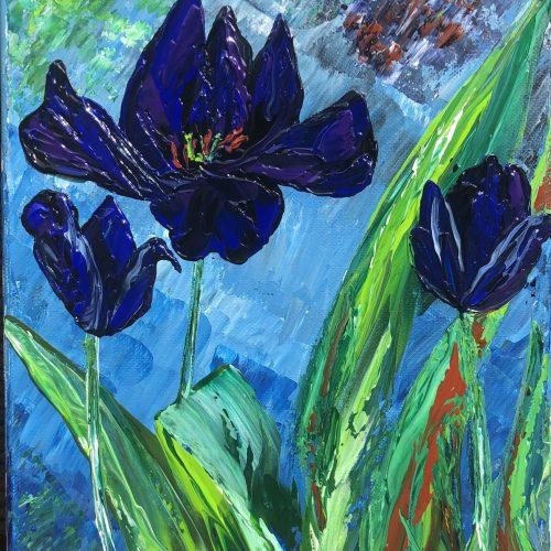 Tulipes - Reines de la nuit signé Kate_Art de l'artiste Katarzyna Boduch