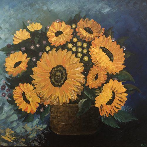 Bouquet of Sunflower signé par Kate_Art, artiste Katarzyna Boduch