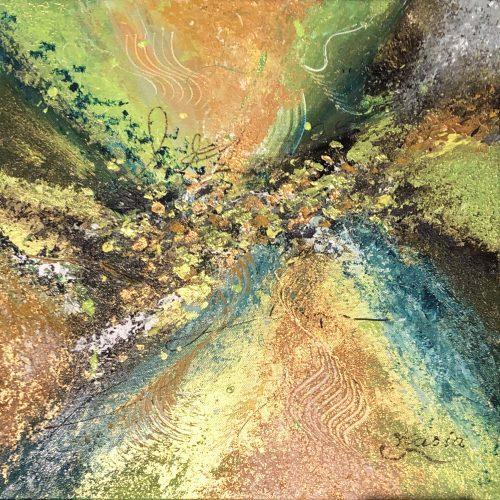 L'éclat fluo doré, signé Kasia, Kate_Art de l'artiste Katarzyna Boduch