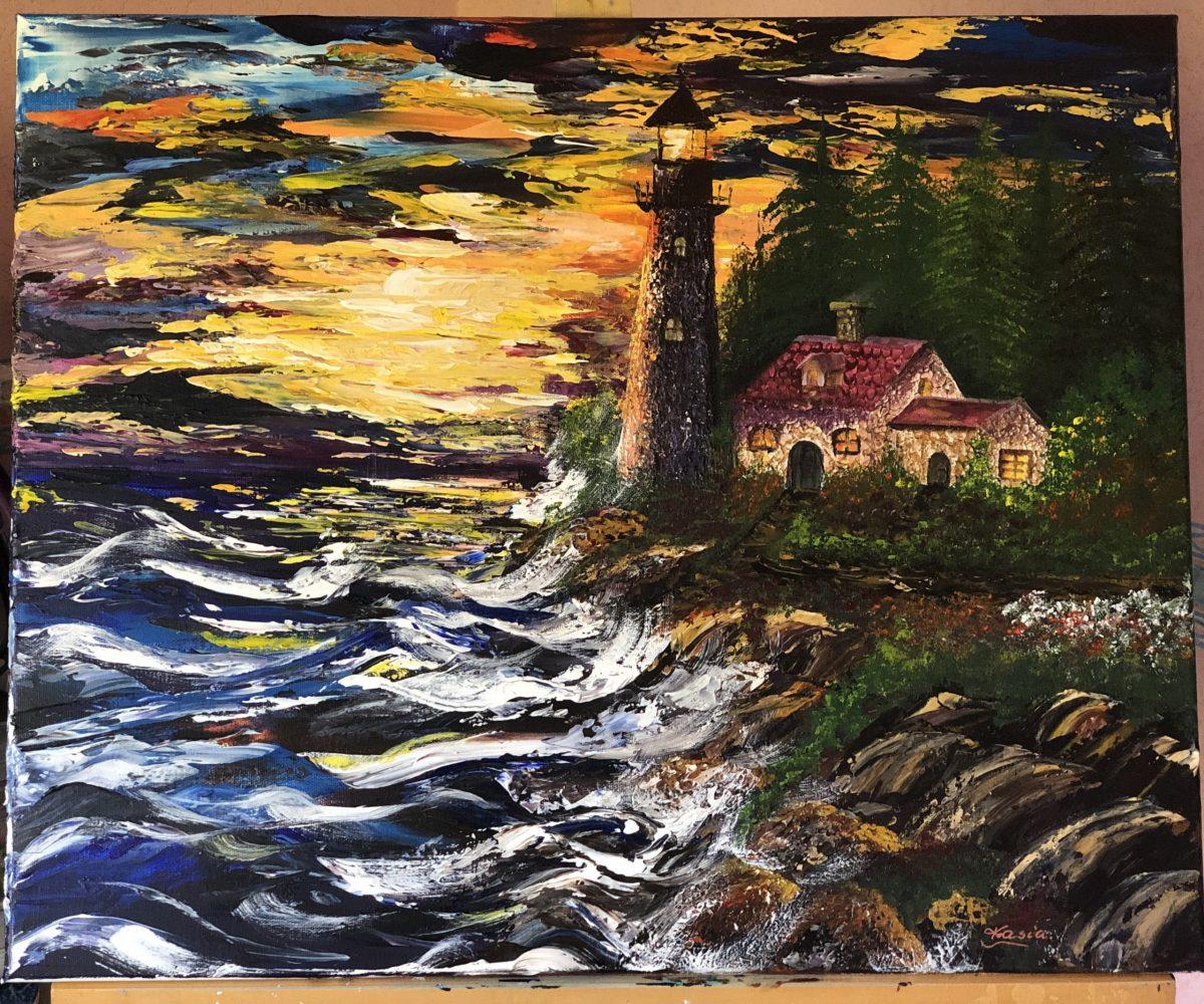 The Lighthouse under the waves de Kate_Art, artiste Katarzyna Boduch