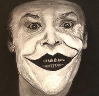 Joker, gros plan sur le visage