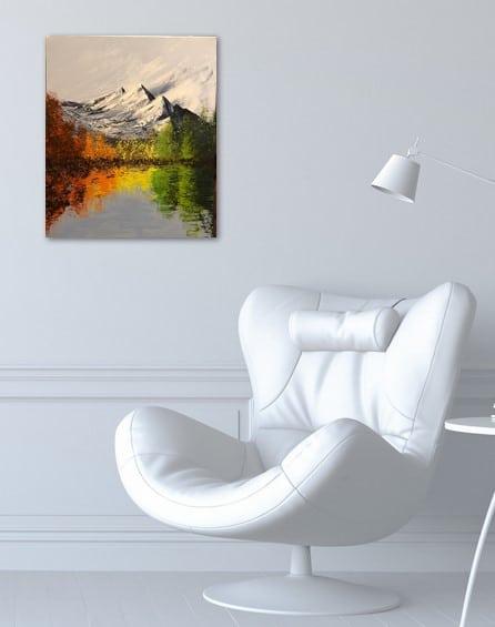 The colorful lake, tableau accroché sur le mur