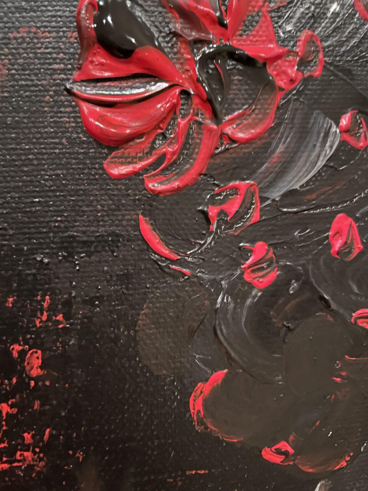 Danseuse du Flamenco, gros plan sur le chignon de la danseuse fait au couteau à palette