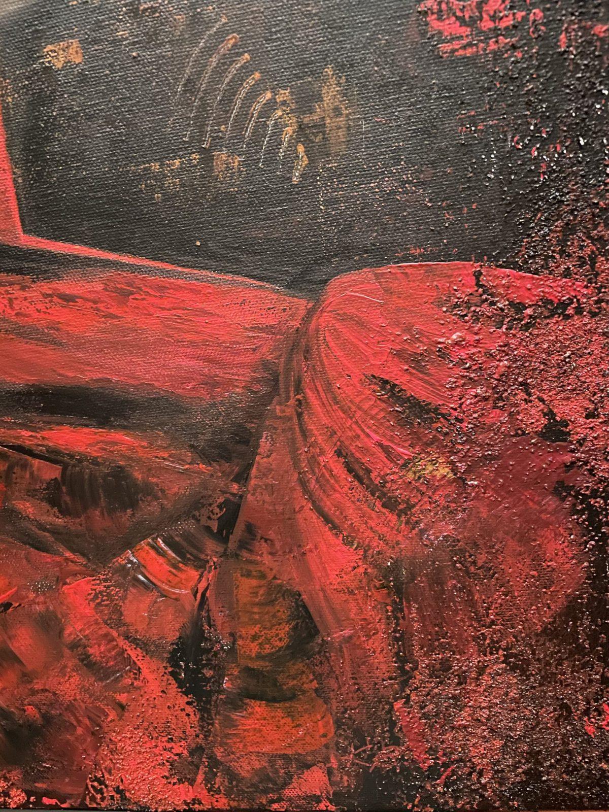 Danseuse du Flamenco, gros plan sur la robe de la danseuse