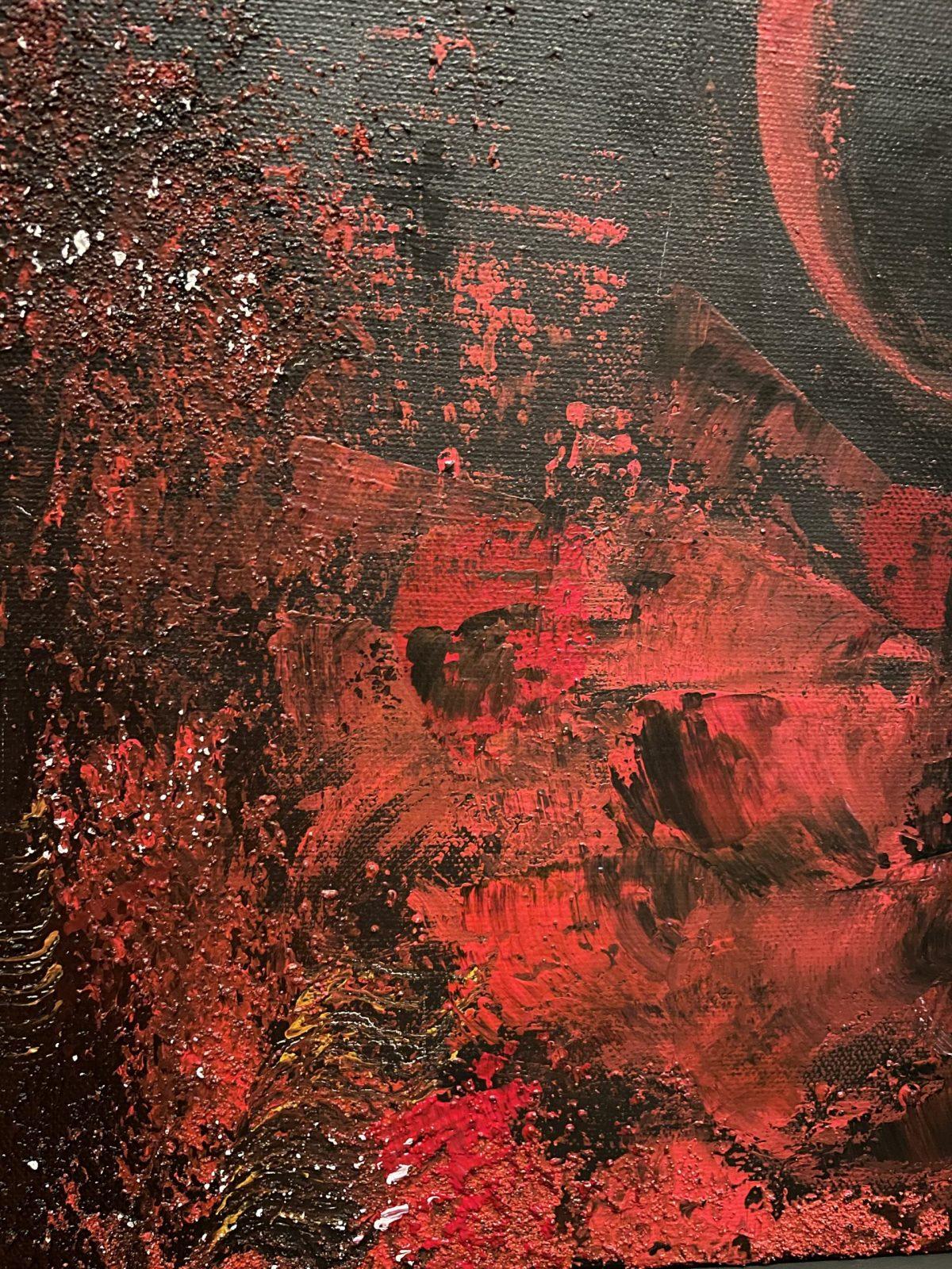 Danseuse du Flamenco, gros plan sur la texture et mélange des matières