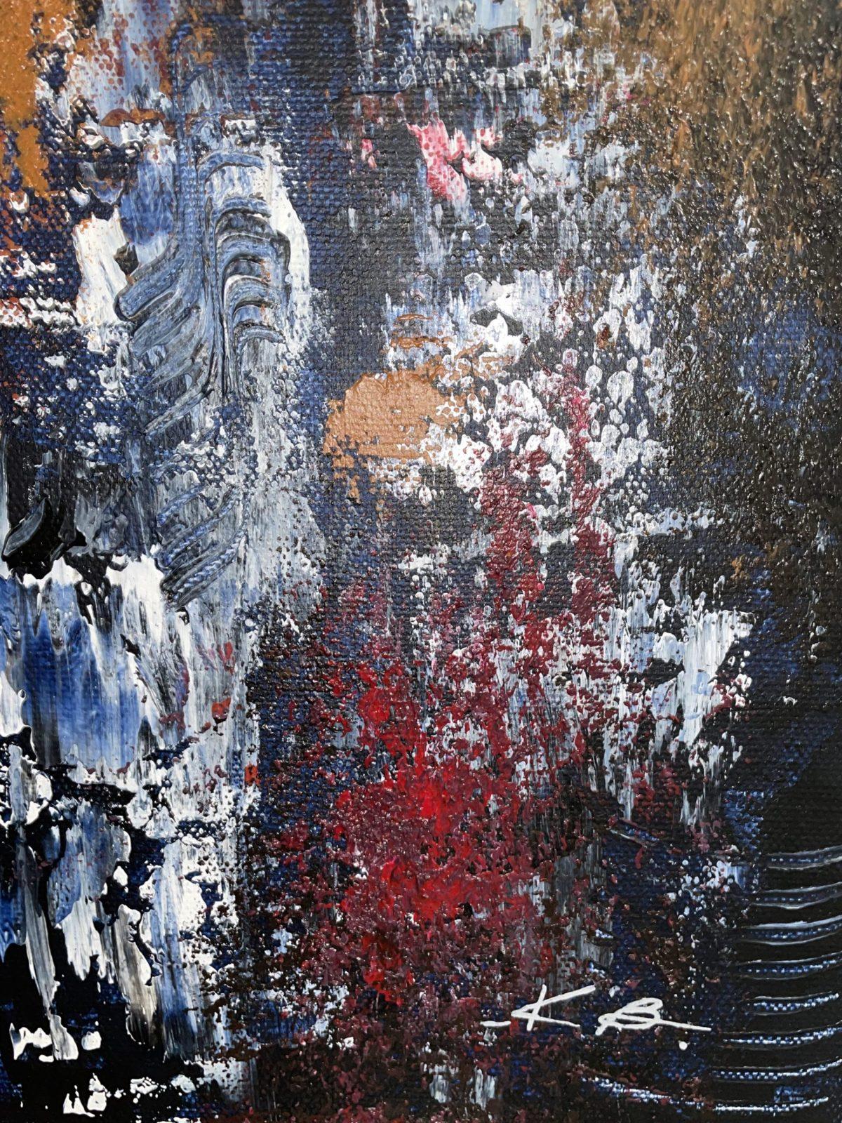 danseuse du Harem de Kate Art, gros plan sur la signature de l'artiste et texture