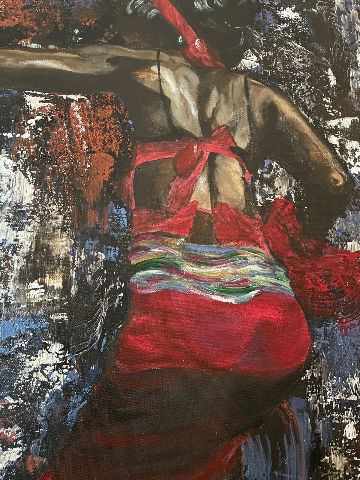 Danseuse africaine, gros plan sur la danseuse