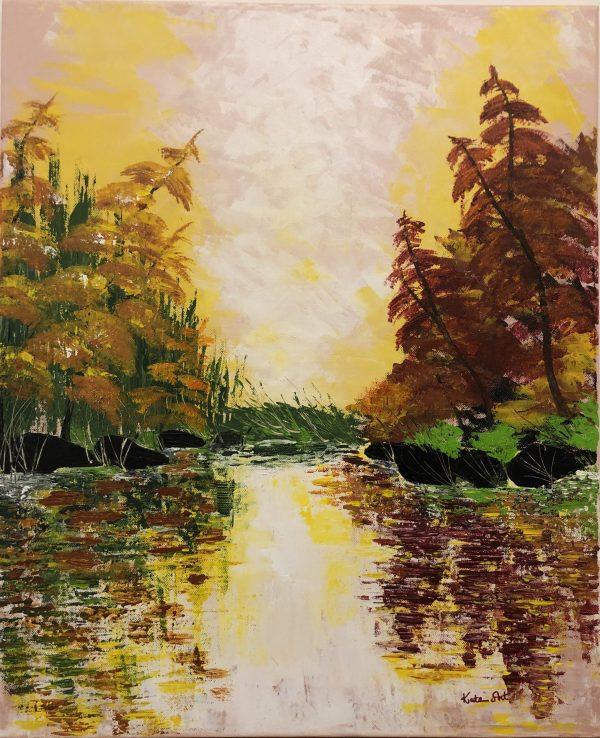 L'automne doré au lac, signé Kate_Art