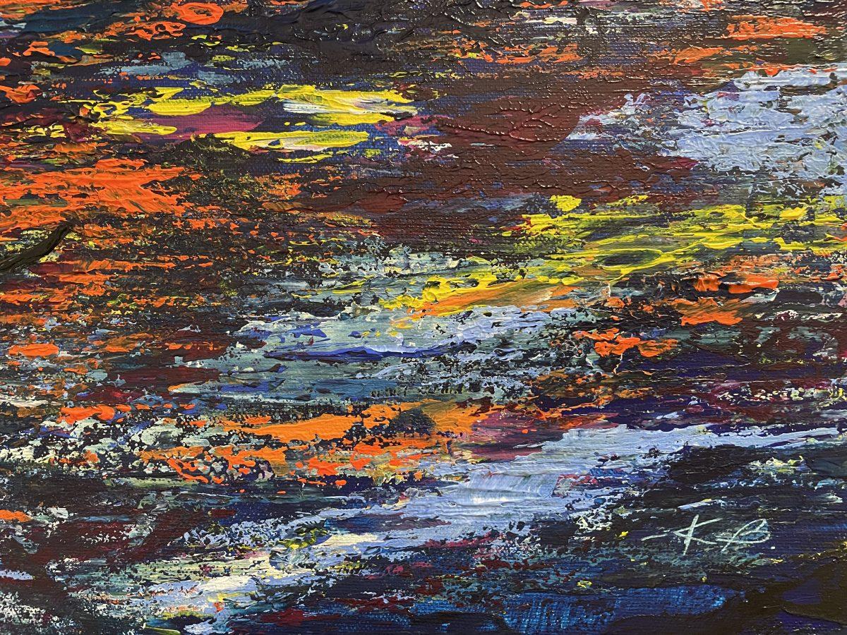 """""""La pêche au lever du soleil"""" signature de l'artiste Katarzyna Boduch"""