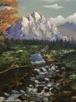 Amazing landscape with waterfall fait par Katarzyna Boduch, artiste polonaise