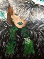Glamour et fourrure acrylique sur toile fait par kate_Art Galerie