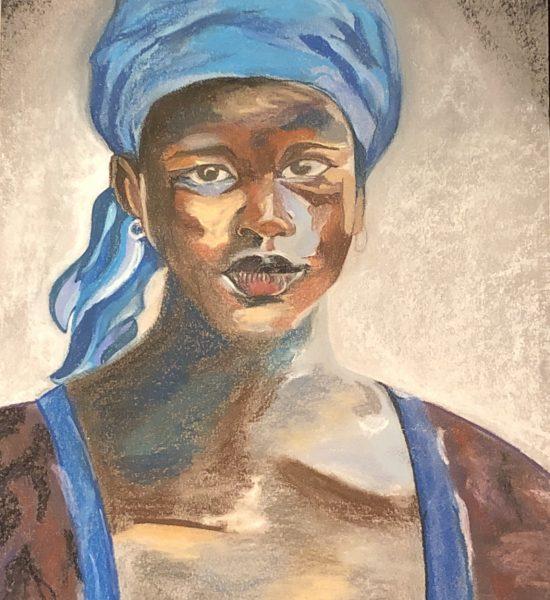 femme de couleur est un dessin aux pastels sec fait par Katarzyna Boduch