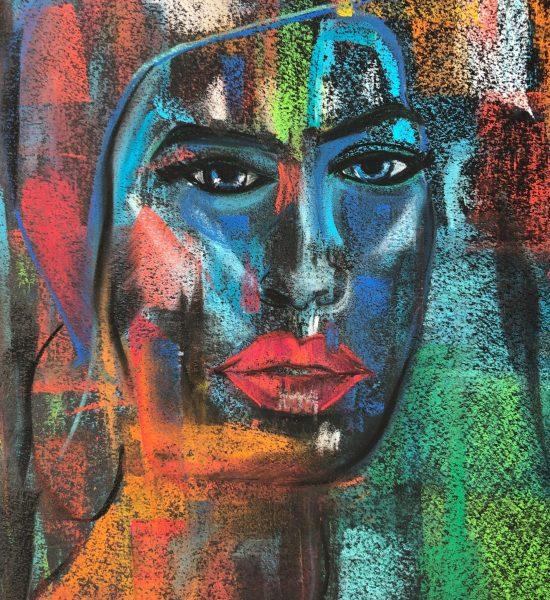 Aux couleurs d'Afrique fait aux pastels secs